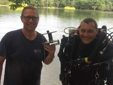 Dr Richard Harris with his dive partner, West Australian vet Craig Challen. Picture: Facebook/Blue Label Diving.