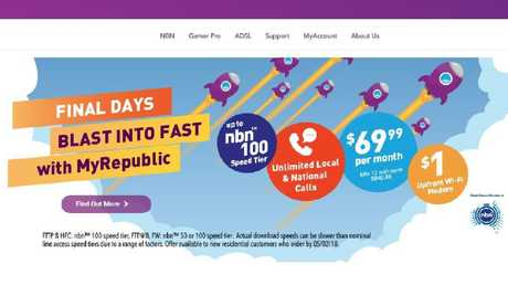 NBN internet provider MyRepublic was fined for misleading ads like this one.
