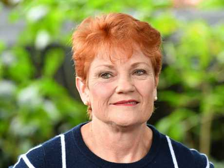 Mr Abbott's presence is intended to help counteract the growing One Nation vote in the region. One Nation leader Pauline Hanson Picture: AAP Image/Darren England