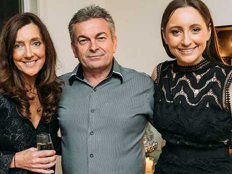 Karen Ristevski with her husband Borce Ristevski and daughter Sarah. Picture: Supplied