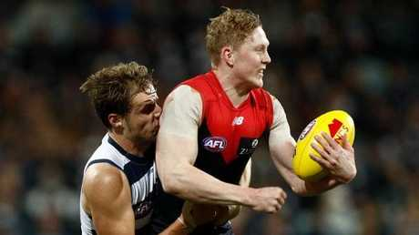 Clayton Oliver's Demons will be looking to bounce back against Adelaide after their after-the-siren loss to Geelong. Picture: Getty Images