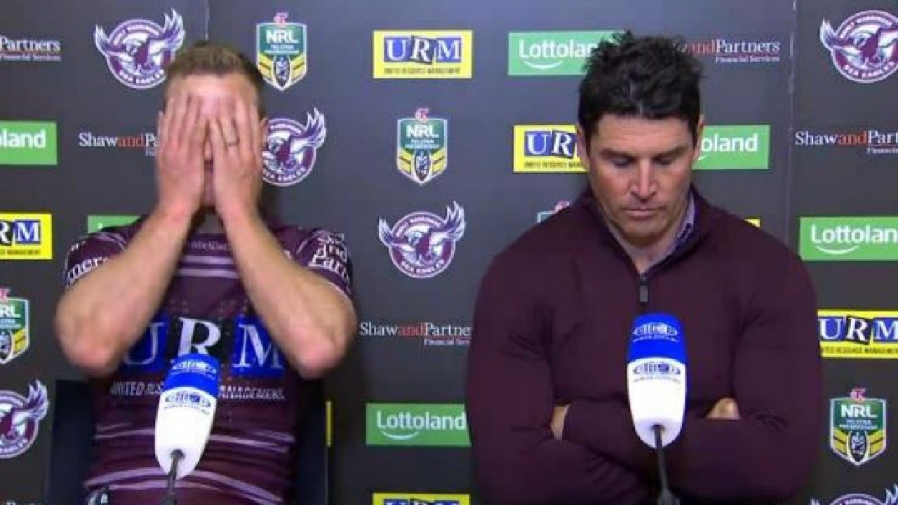 Captain and coach show their frustration after Manlt's horror loss to the Roosters