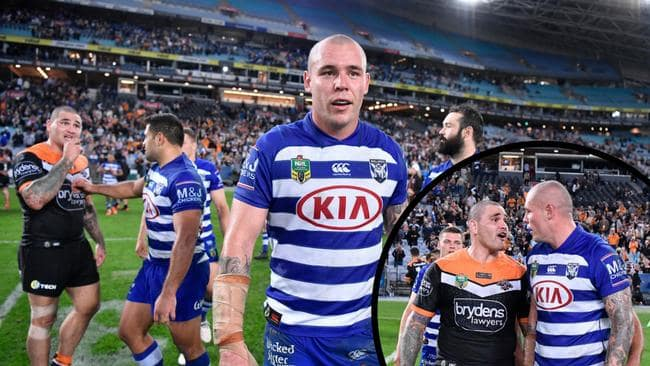 David Klemmer and Russell Packer could be set for a heated showdown in NRL's retro round. Credit: NRL Photos