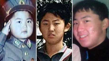 Kim Jong-un, above left to right as a child and a young and older teen, was bad tempered, demanding and hit people.