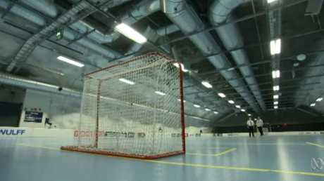 The bunker even holds an ice hockey rink.