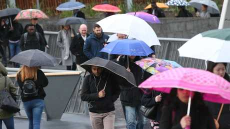 Melbourne is bracing for impact as a weather warning for damaging winds warning is issued across the state. Picture: David Crosling