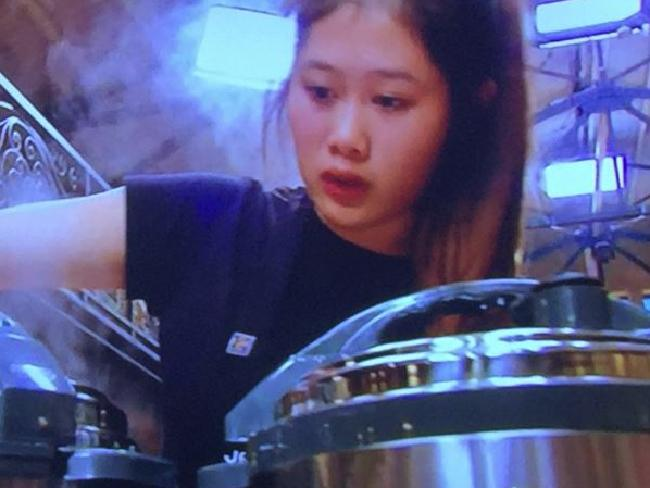 Jess cooking her dish in the pressure test. Picture: Supplied