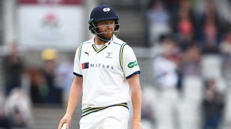 Jonny Bairstow was the third man out in Jordan Clark's hat-trick.