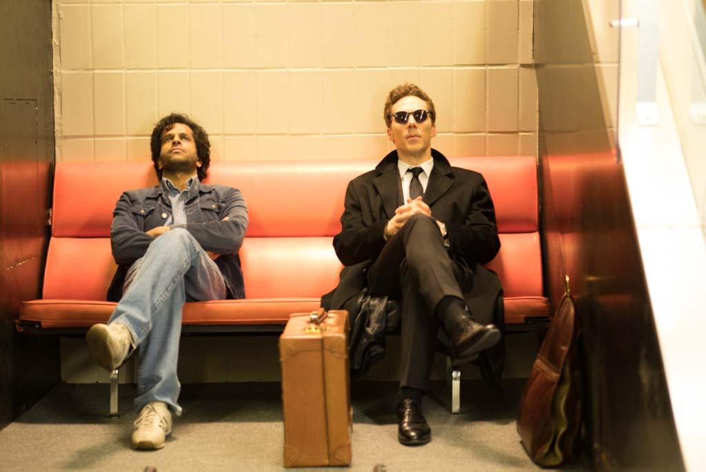 Prasanna Puwanarajah and Benedict Cumberbatch in a scene from Patrick Melrose.