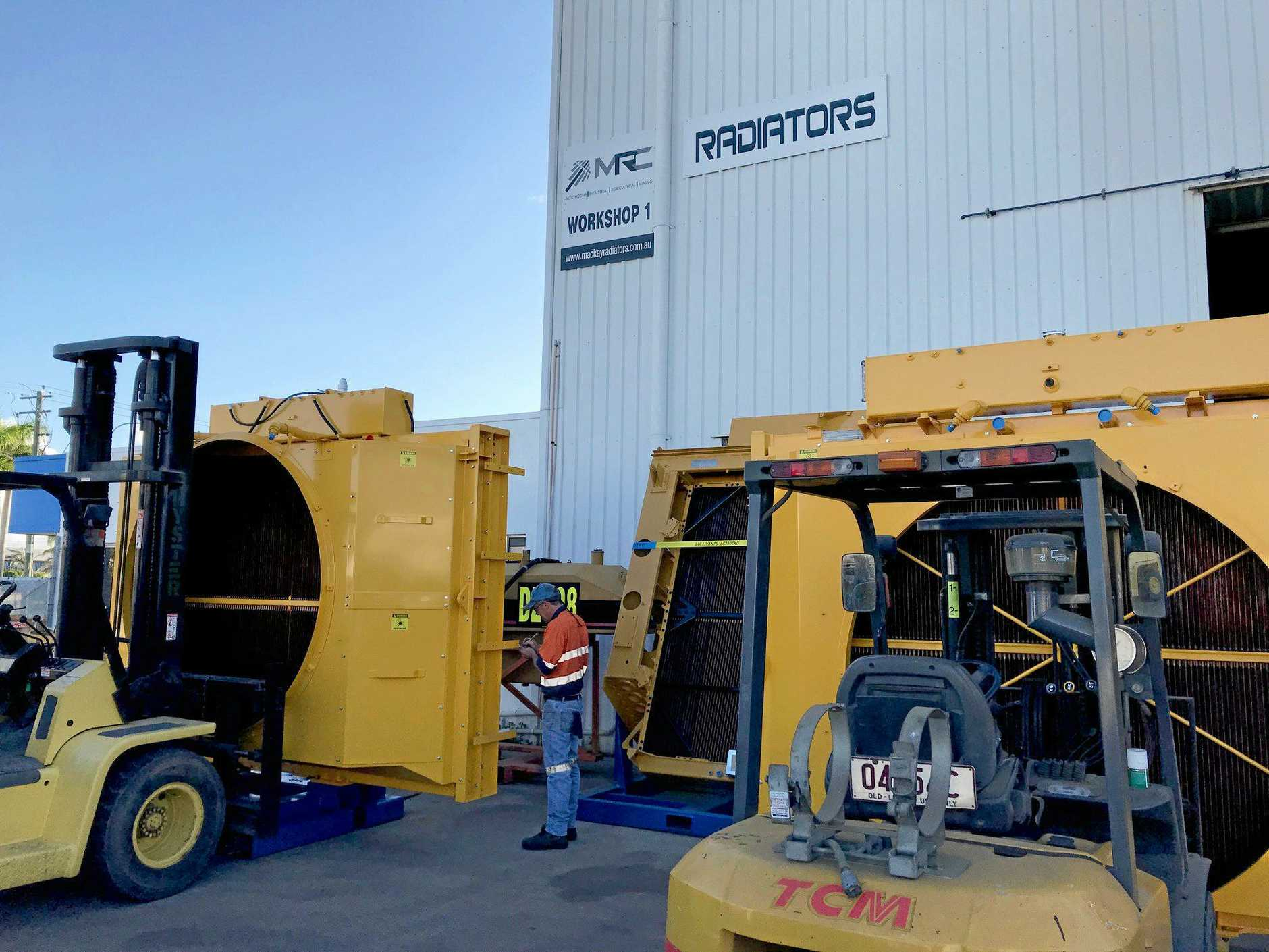 Long-time MRC Australia employee Ross Blanchard preparing completed units for dispatch to clients in the Bowen Basin.