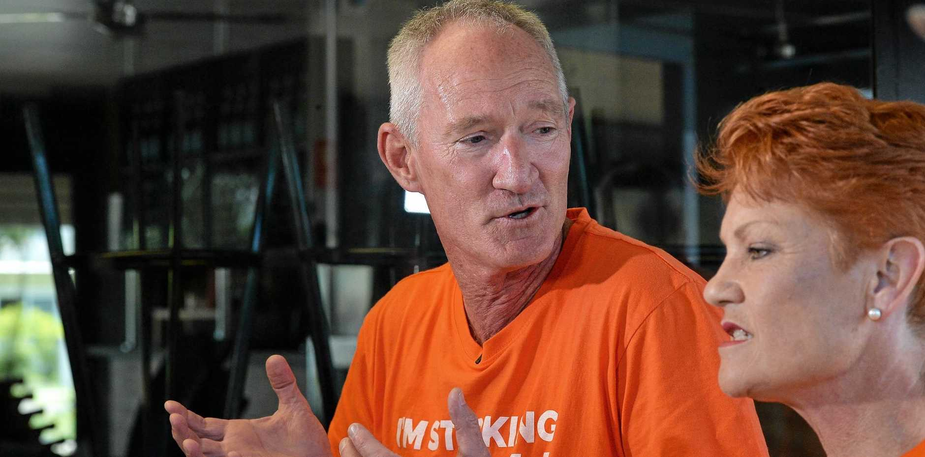 SPEAKING OUT: One Nation state leader Steve Dickson has backed party leader Pauline Hanson, and Longman candidate Matthew Stephen ahead of this weekend's Longman by-election.