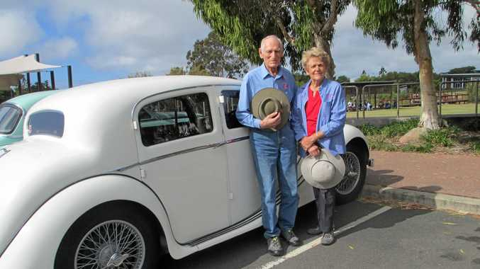 CAR BUFFS: Fraser Coast Historic Vehicle Club members Brian and Pam Wade will have their 1966 Mark 2 Jaguar on display as part of the 4-Club Rally.
