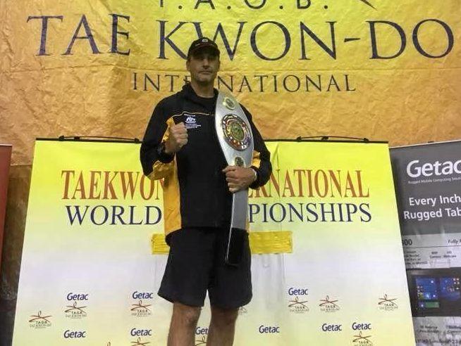 CHAMP: Brian Reardon has claimed another world taekwondo title.