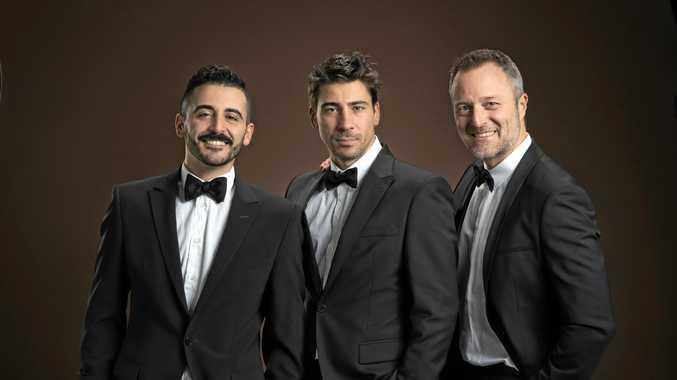 GRANDI VOCI: Sabino Gaita, Mirko Provini and Evans Tonon are The Italian Tenors.