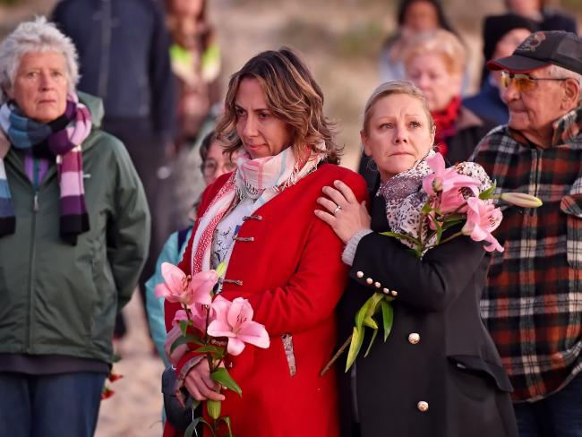A sunrise vigil for Ms Damond at Freshwater Beach in Sydney marked the anniversary of her death on July 15. Picture: AAP IMAGE / Troy Snook