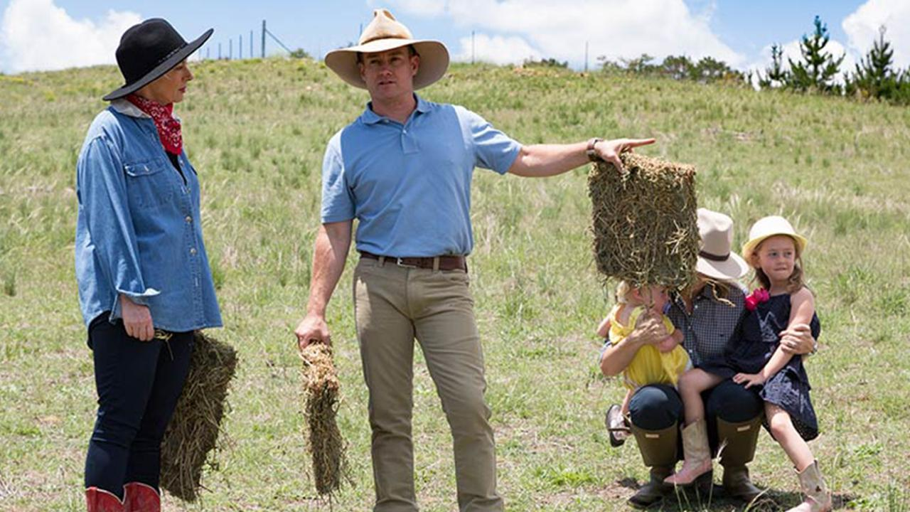Grant Denyer points out the financial strains the drought is having on struggling farmers.
