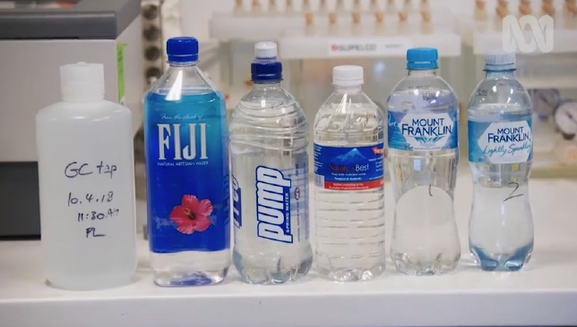 ABC's War on Waste tested these water brands and put them against Gold Coast tap water. Picture: ABC