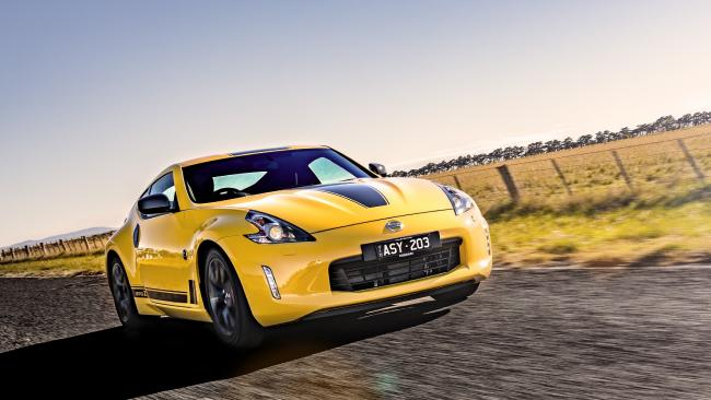 Seeing stripes: Nissan has added 'sporty' touches to 370Z coupe.