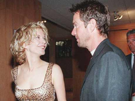 Meg Ryan and Dennis Quaid in 1996. Picture: AP