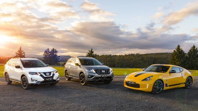 Nissan N-Sport range: Nissan Pathfinder, Nissan X-Trail and Nissan 370Z.