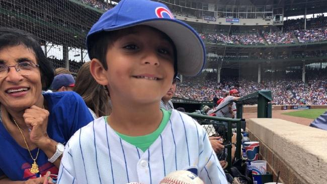 Not all was as it seemed with this young Cubs fan.