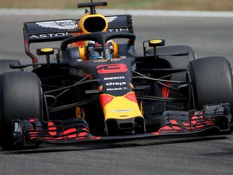 Daniel Ricciardo of Australia driving at Hockenheim