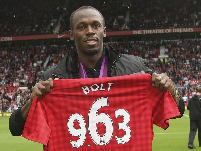 Usain Bolt is one of Manchester United's biggest fans. Picture: Getty