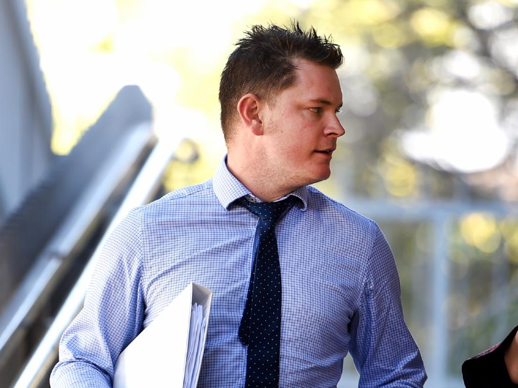 Crown Prosecutor Nathan Crane leaving the Supreme Court of Townsville.