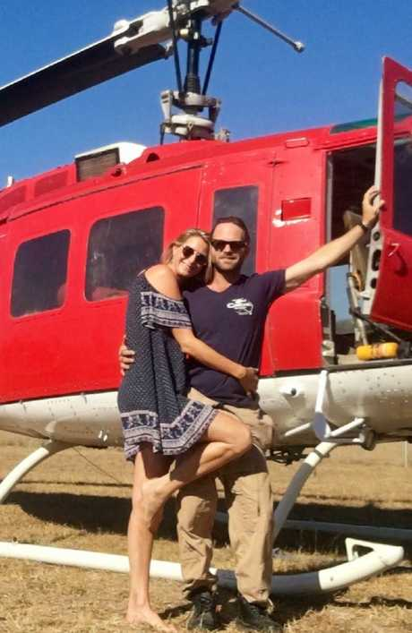 Love takes off: Alienor and Mitch. Picture: Supplied