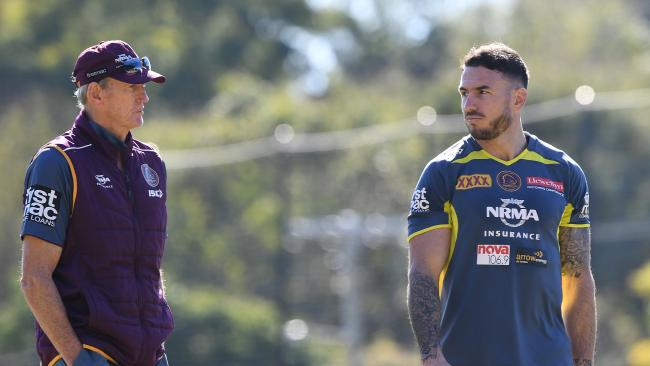 Darius Boyd seems resigned to the fact his mentor's time at the club is running out. Picture: AAP