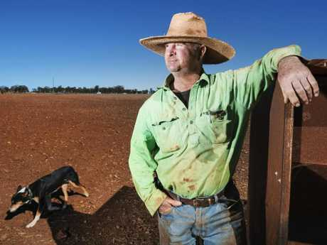 Grazier Will Roberts is battling severe drought conditions on his 32,000 acre sheep property in Western Queensland. Picture: Lachie Millard