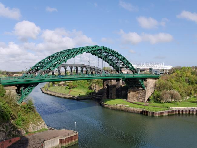 Paige placed notes along Wearmouth Bridge in Sunderland.
