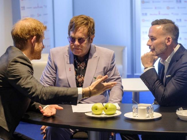 Prince Harry, Elton John and David Furnish discuss the MenStar Coalition, which will expand the diagnoses and treatment of HIV infections in men.