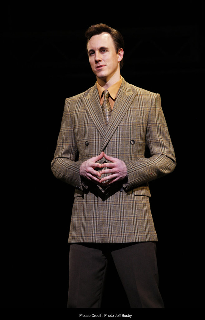 Ipswich local Glaston Toft plays the role of Nick Massi in the Jersey Boys production at the Lyric Theatre. Photo: Supplied by Jeff Busby