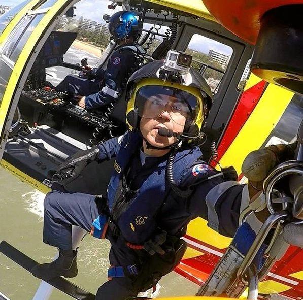 Stephen McHugh on a mission with Lifeflight.