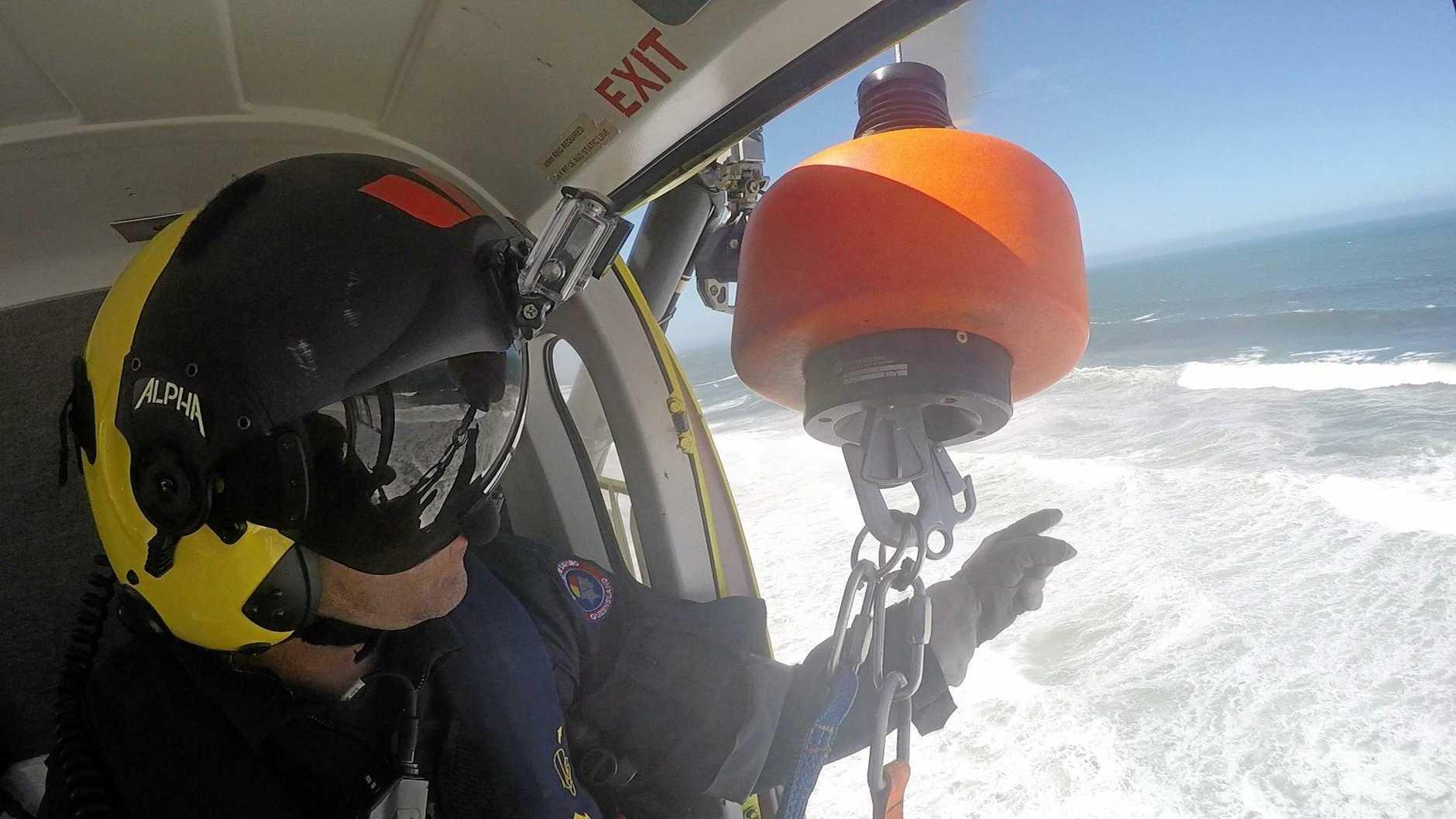 Richard McHugh on a mission with Lifeflight.