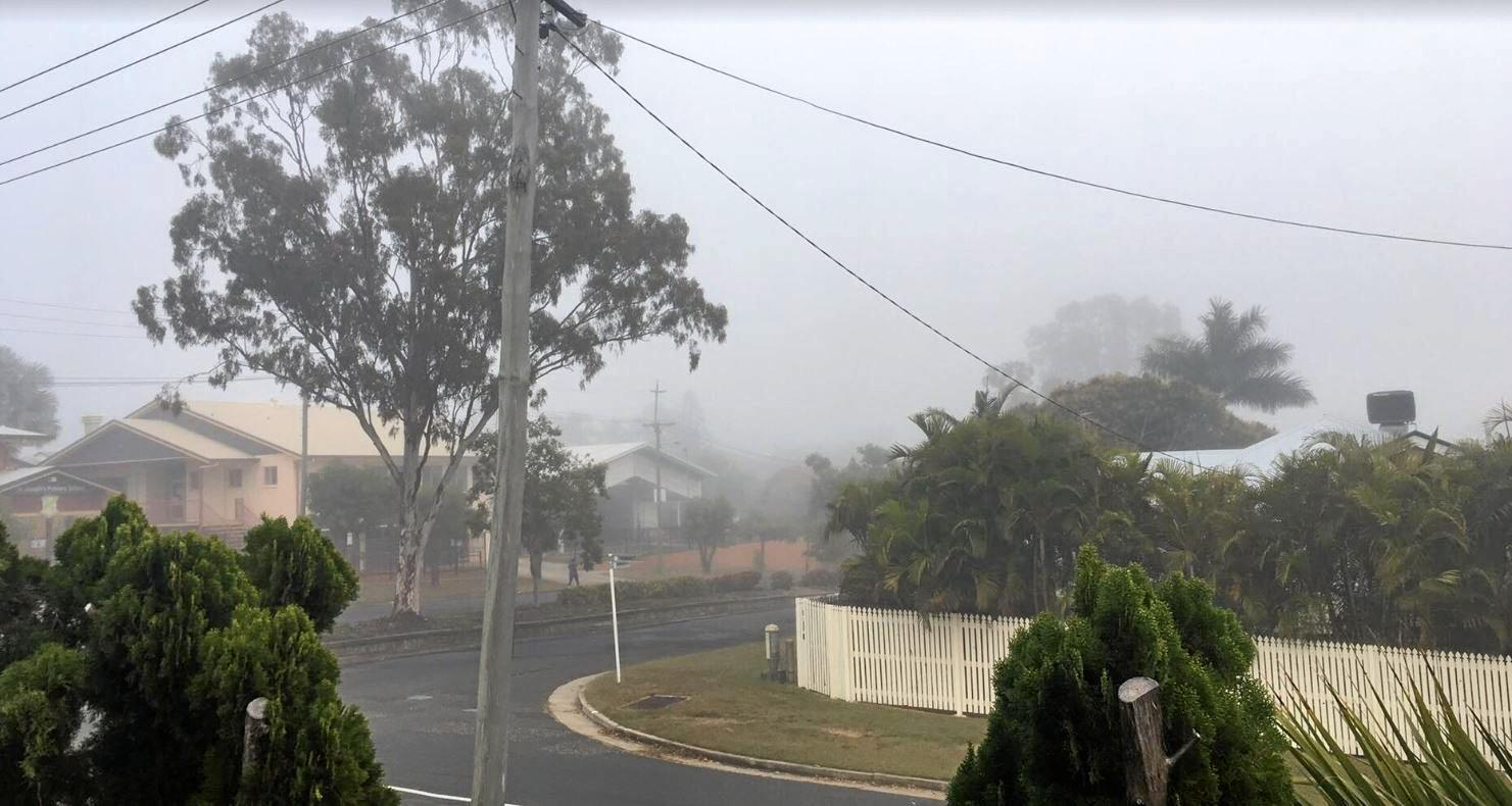 A resident in Wandal woke up to the thick fog outside their window.