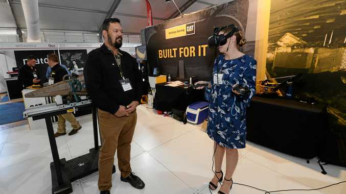 Hastings Deering virtual reality display at the Queensland Mining and Engineering Expo.