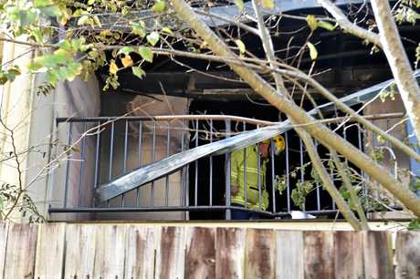 Beerwah mum Lauretta Deering saves young children from a house fire this morning.