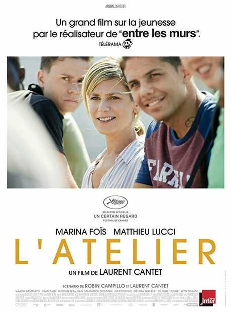 Poster for the French film L'Atelier (Workshop).