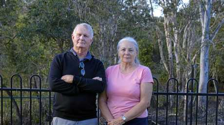 ENOUGH: Lindsay and Barbara Robinson are leading a petition to stop the plan for a new lagoon due to the increasing bat populations that would be further encouraged.