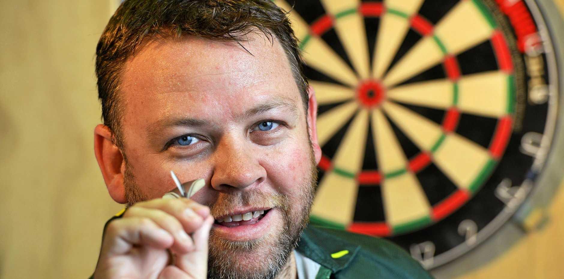 Queensland darts champion Gordon Mathers.