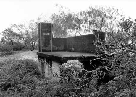 Remains of the Fort Bribie flank battery observation post.