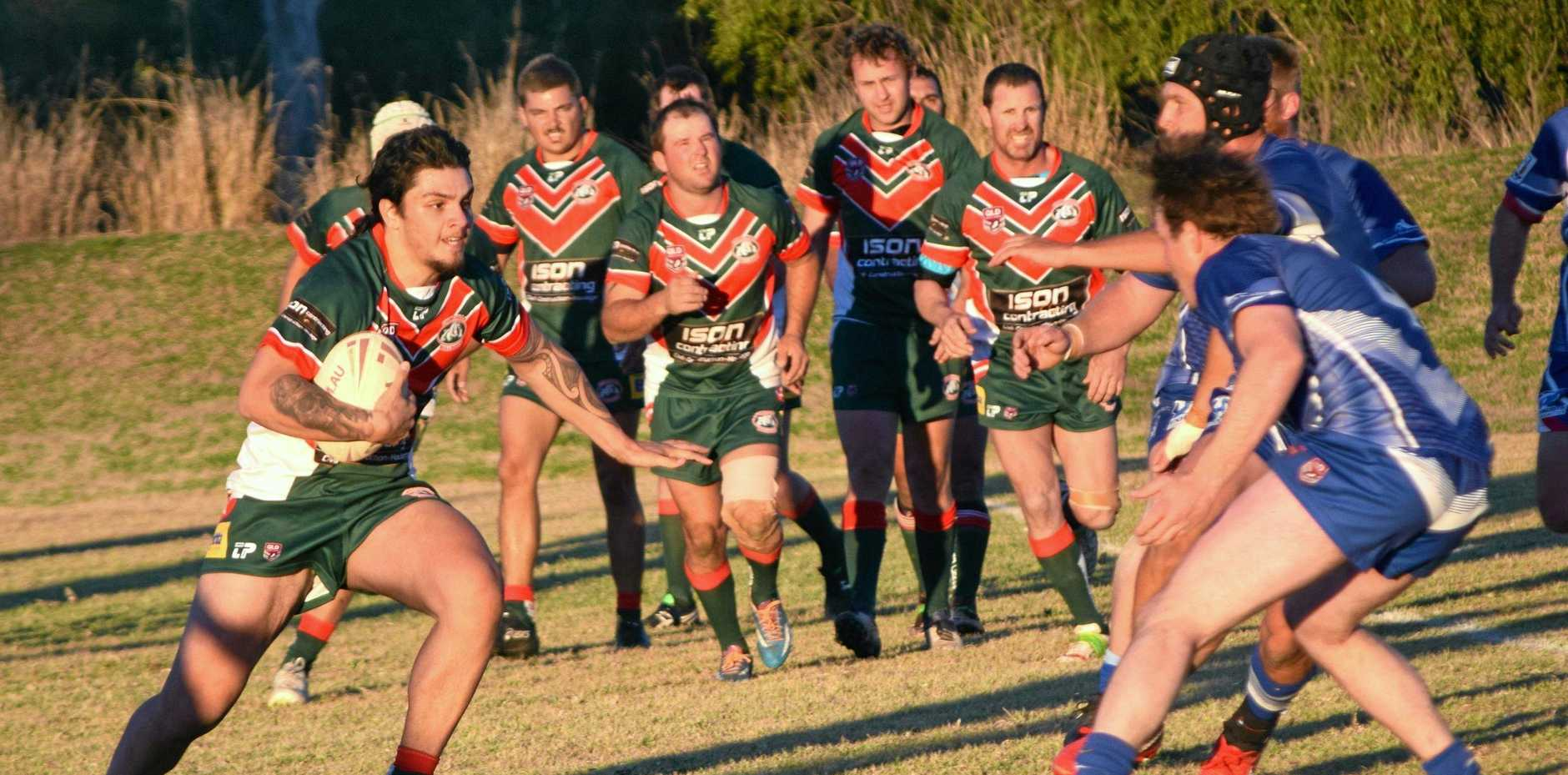 STRAIGHT THROUGH: Chinchilla Bulldogs go up against Roma Cities on Saturday at Bulldog Park.