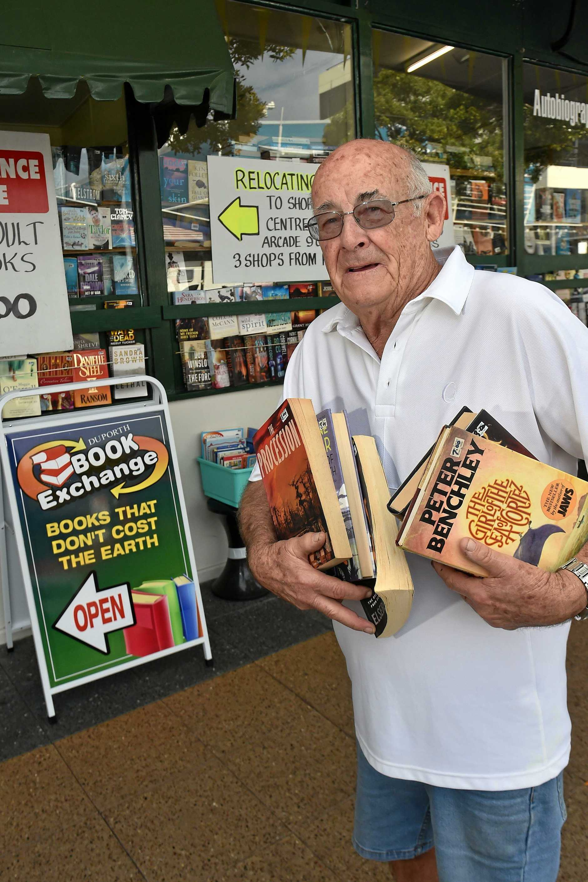 Duporth Book Exhange owner David Howard is readying to move his shop to a new Ocean Street location.