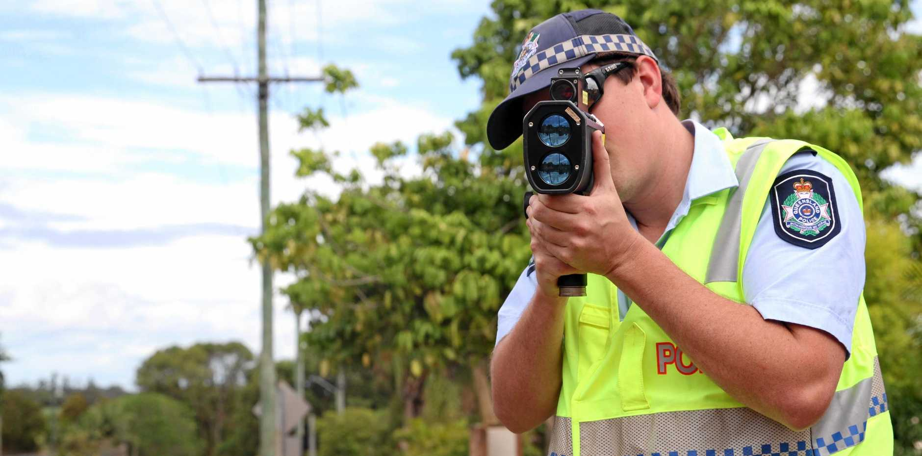 A Bundy man has been clocked at more than 160km/h on the Bruce Hwy.