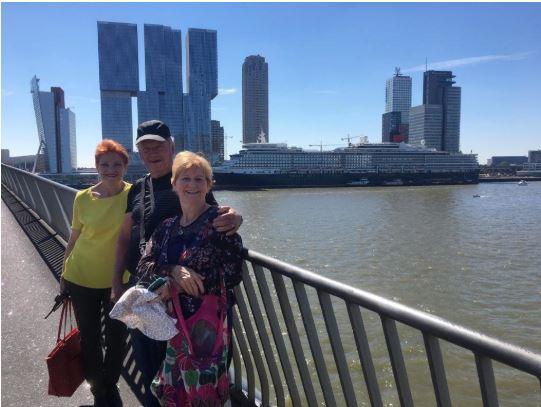 Pauline Hanson on holiday in Europe.