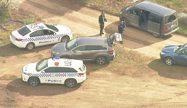 Police are investigating the deaths of a man and a woman. Picture: 9 News