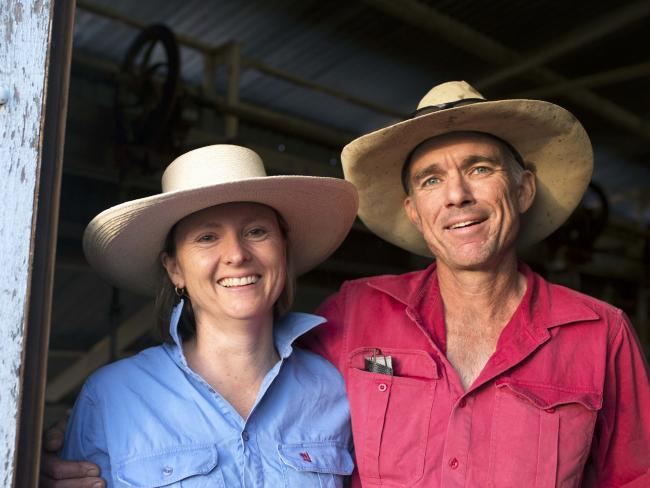 Blackall battlers Bruce and Lisa Alexander are doing it tough in the bush as drought continues to bite. Picture: Chantel McAlister