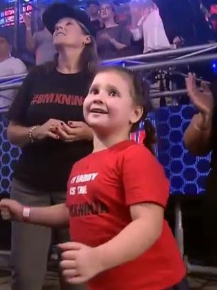 Izabelle, his biggest fan.